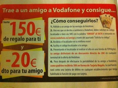 Campaña afiliación Vodafone